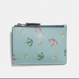 Coach Mini Skinny ID Case -  Beach Umbrella Print